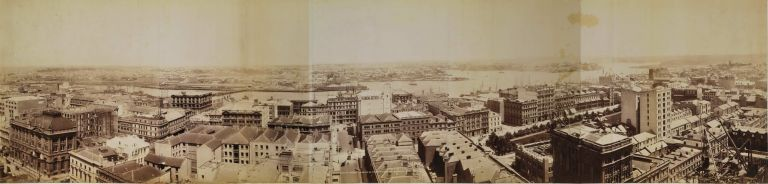 Panorama Of Sydney Looking West From Tower Of General Post Office. Government Printer, est. 1842 Aust.