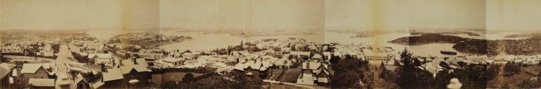 Panorama Of The City And Harbour Of Sydney From North Sydney, NSW. Government Printer, est. 1842 Aust.