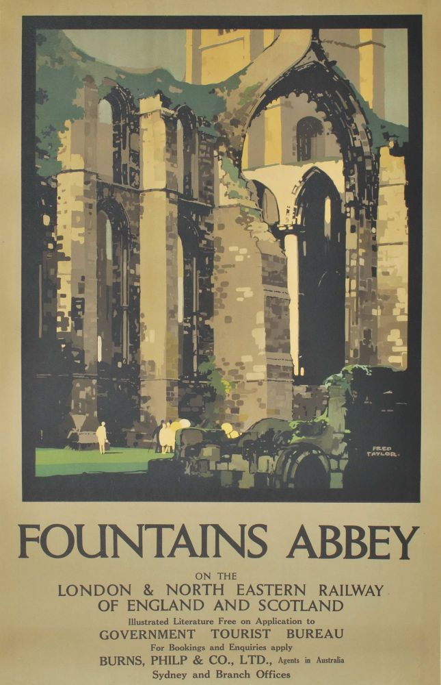 Fountains Abbey. Fred Taylor, 1875–1963 Brit.