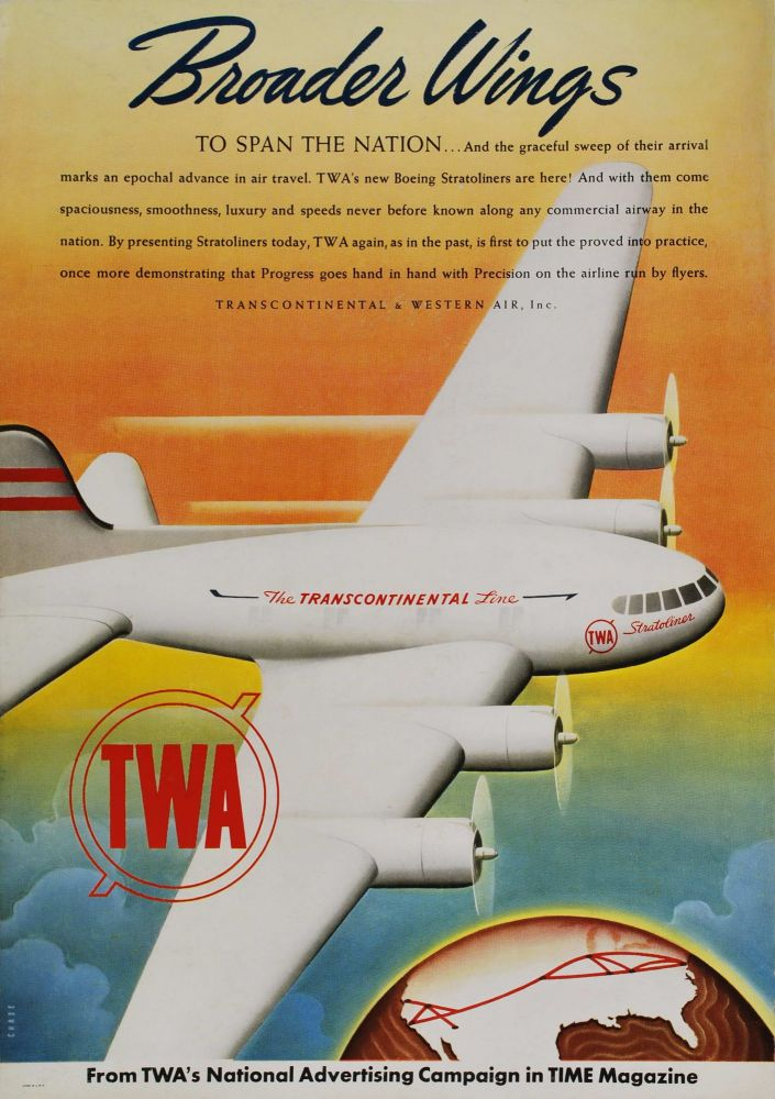 Broader Wings To Span The Nation. TWA