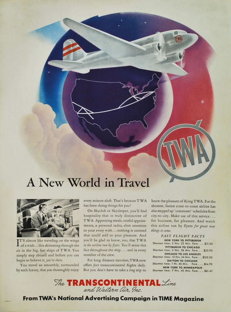 TWA. A New World In Travel