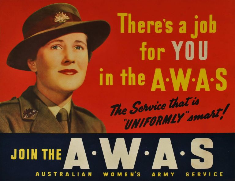 Join The AWAS. Australian Women's Army Service