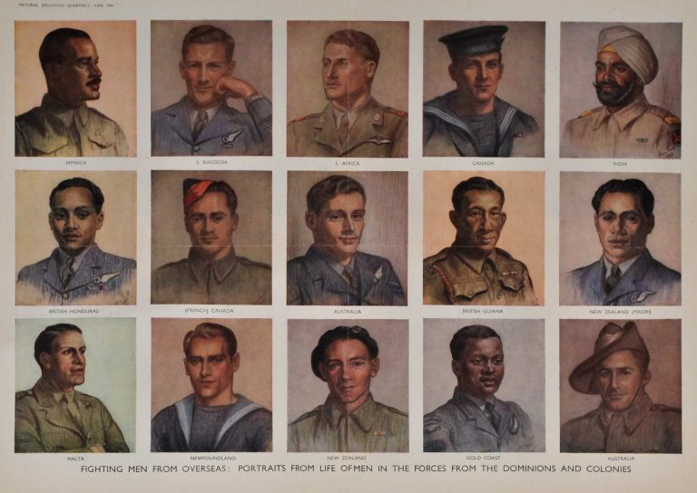 Fighting Men From Overseas: Portraits From Life Of Men In The Forces From The Dominions And Colonies [WWII]