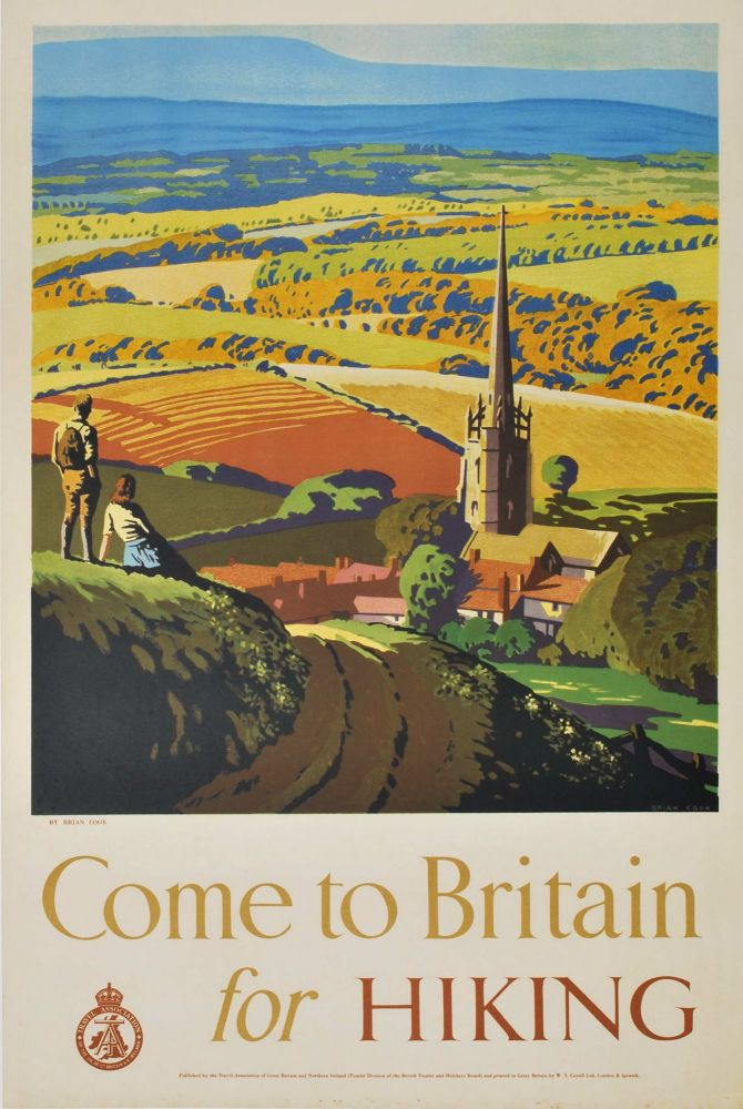 Come To Britain For Hiking. Brian Cook, 1910–1991 Brit.