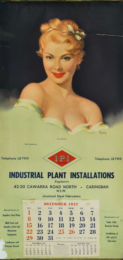 Miss Adorable [For Industrial Plant Installations Engineers]. Pearl Frush, 1907–1986 Amer.