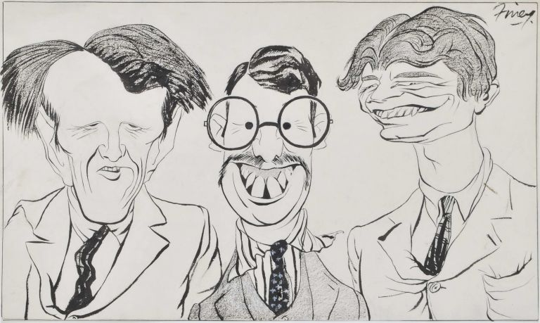 [Caricature Of Three Men]. George Finey, 1895–1987 Australian.