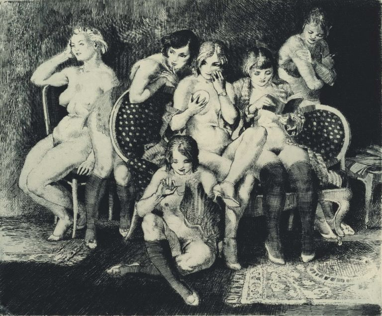 [Folio Of Erotic Etchings]. Clive Wallis, 1909–1983 Australian.