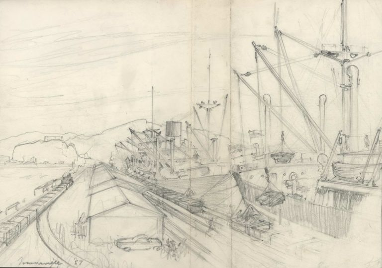 Townsville [Queensland, Shipping Port]. Robert Emerson Curtis, 1898–1996 Aust.