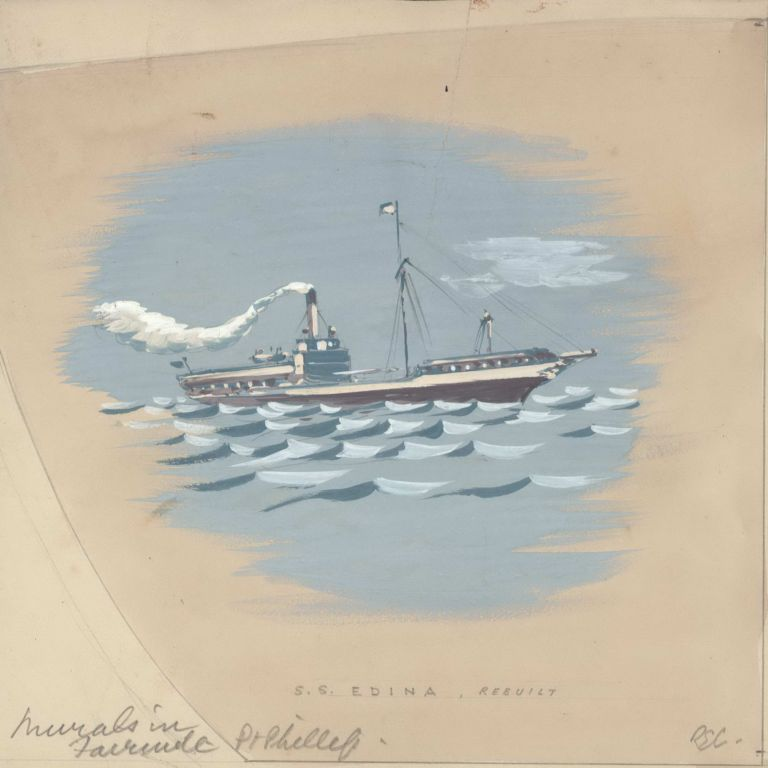Studies For Shipping Murals. Robert Emerson Curtis, 1898–1996 Aust.