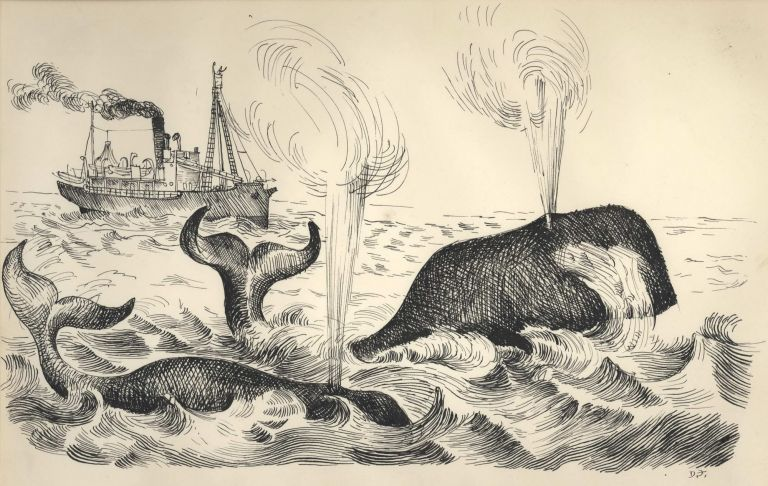 Hunters Of The Antarctic [Whaling]. Donald Friend, 1915–1989 Aust.