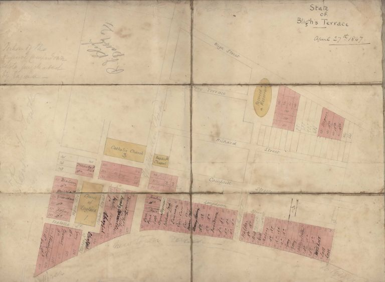 State Of Bligh's Terraces [Street Plan, Newtown, NSW]