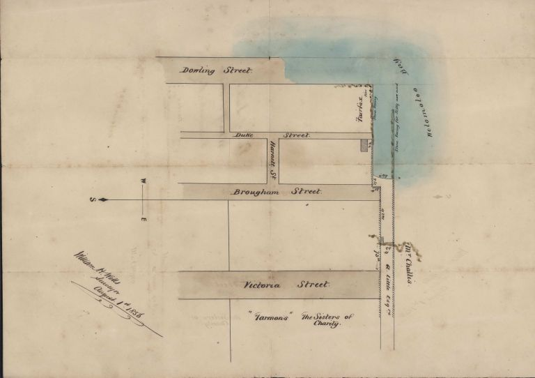 Plan Of Littles Wharf, Dowling Street, Wooloomooloo [Sic] Bay [NSW]