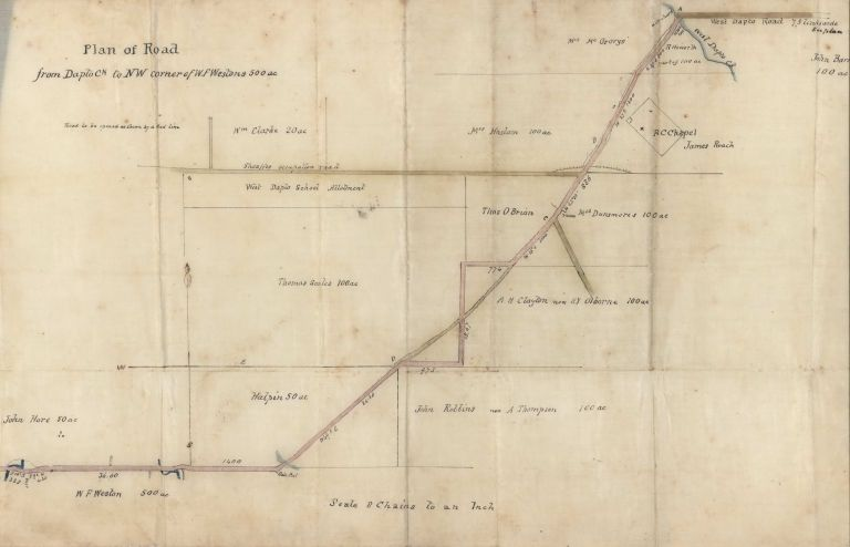 Plan Of Road From Dapto [Creek] To NW Corner Of W.F. Weston's 500 Acres [NSW]