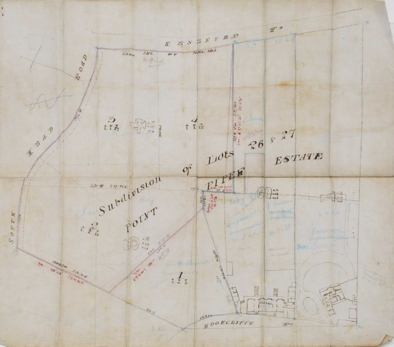 Subdivision Of Lots 26 & 27, Point Piper Estate [NSW]