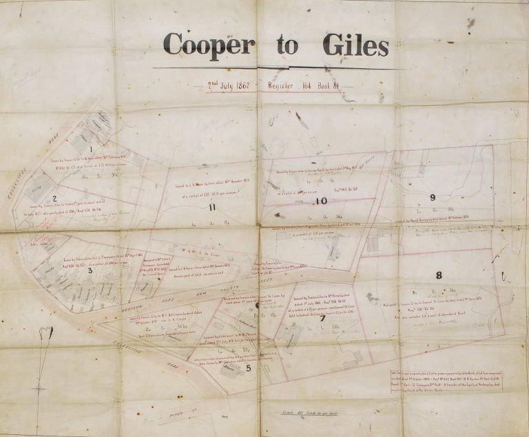 Cooper To Giles Map [Woollahra, NSW]