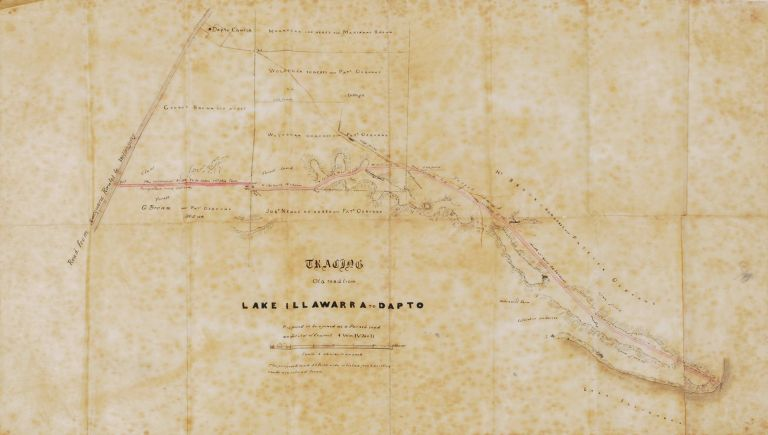 Tracing Of A Road From Lake Illawarra To Dapto [NSW]