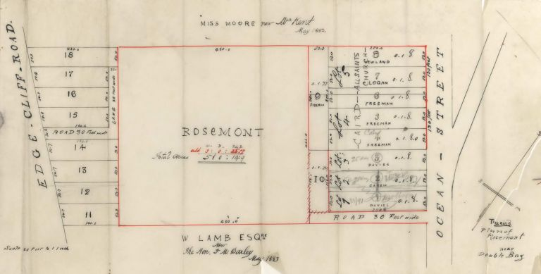 Tracing Plan Of Rosemont, Near Double Bay [NSW]