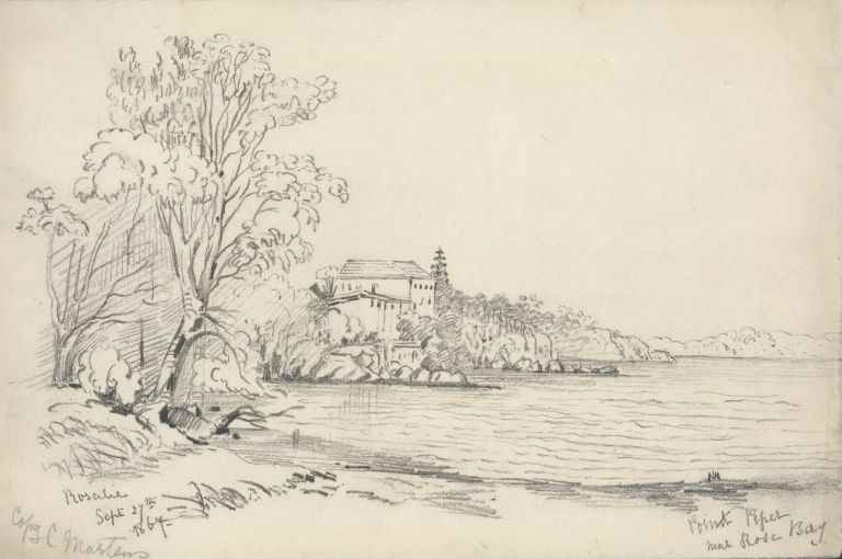 Point Piper Near Rose Bay [NSW]. Rosalie Ann Thorne . After Conrad Martens, 1850–1927 Aust., Brit./Aust. 1801–1878.