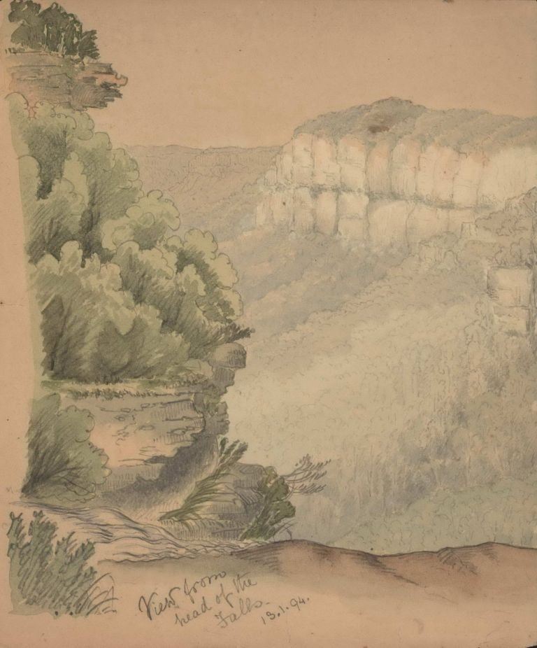 [Views Of The Blue Mountains, NSW]. Rosalie Ann Thorne, 1850–1927 Aust.