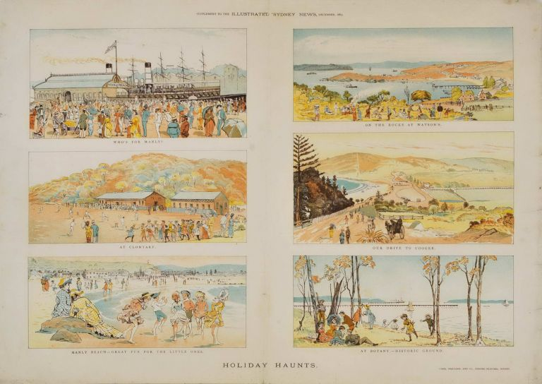 """Holiday Haunts. Supplement To """"The Illustrated Sydney News"""""""