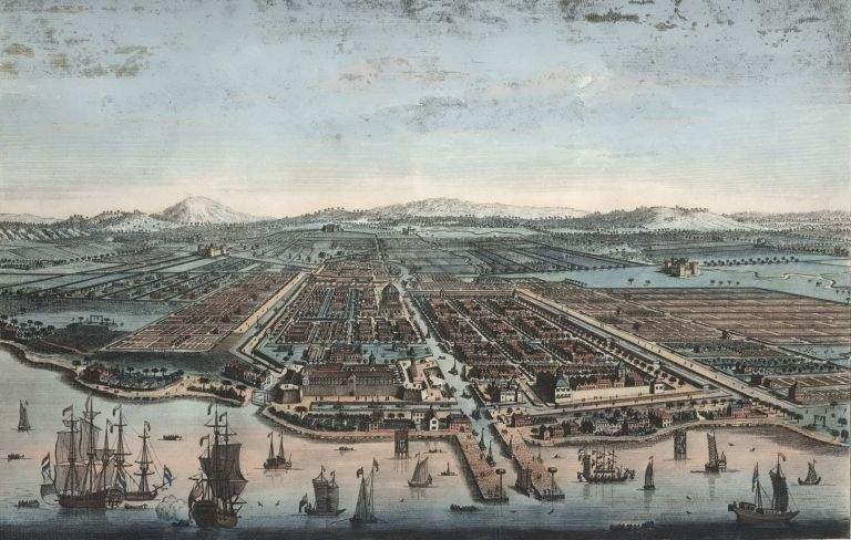The City Of Batavia In The Island Of Java And Capital Of All The Dutch Factories & Settlements In The East Indies. After Jan Van Ryne, 1712–1760 Dutch.