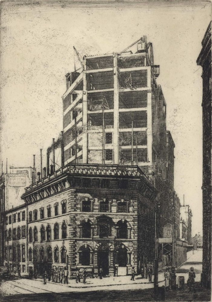 "Office Of ""The Sydney Morning Herald"" [Under Construction]. Sydney Ure Smith, 1887–1949 Aust."