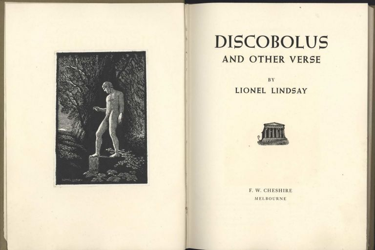 Discobolus And Other Verse [Book]. Lionel Lindsay, 1874–1961 Aust.