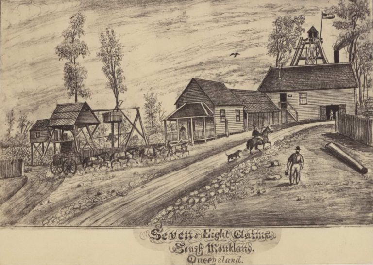 Seven And Eight Claims, South Monkland, Queensland [Gympie, Gold Mining]