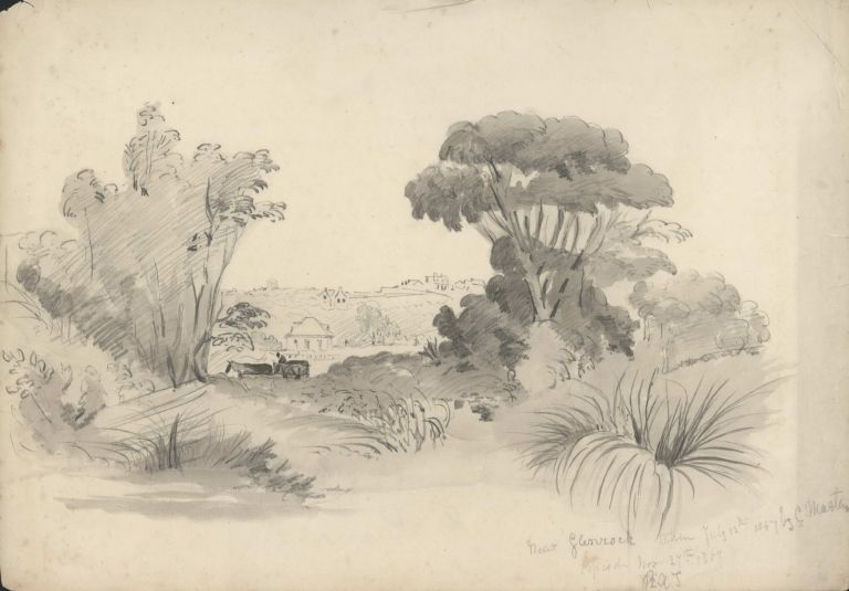 Near Glenrock [NSW]. Rosalie Ann Thorne . After Conrad Martens, 1850–1927 Aust., 1801–1878 Brit./Aust.