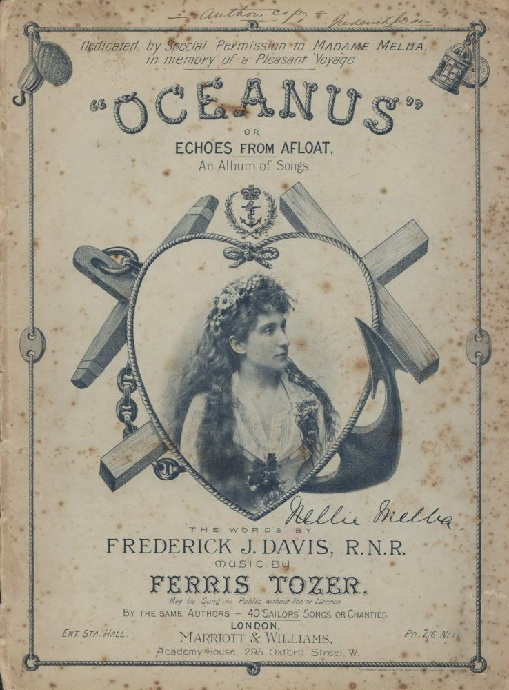 """Oceanus"" Or Echoes From Afloat. An Album Of Songs [Nellie Melba Portrait]"