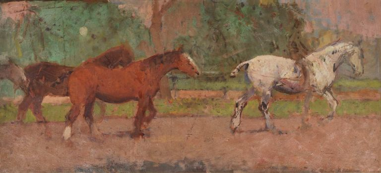 [Sketch Of Horses With Rider]. Frank Prout Mahony, 1862–1916 Aust.