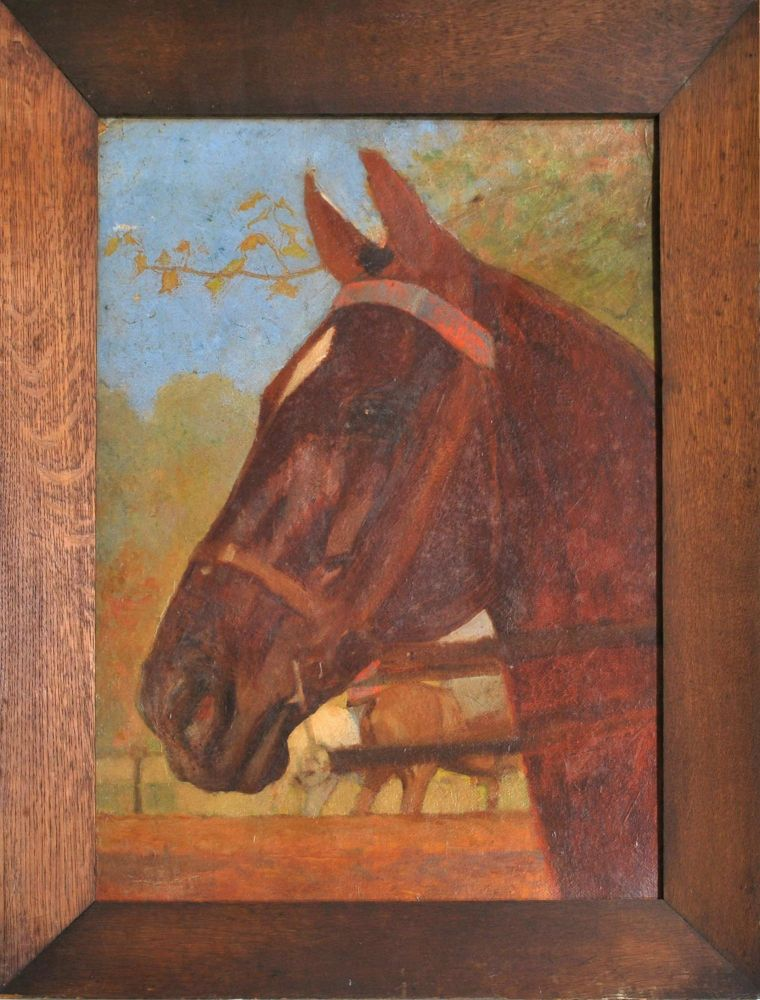 [Bridled Horse]. Frank Prout Mahony, 1862–1916 Aust.