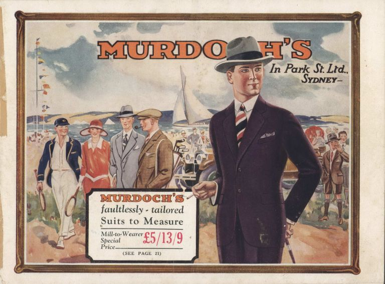 Murdoch's [Sydney] Catalogues For Men's And Boys' Fashion