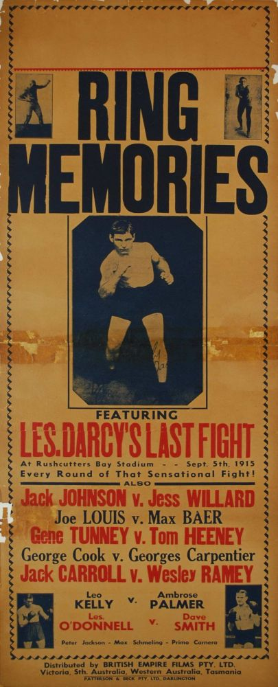 """""""Ring Memories"""". Featuring Les Darcy's Last Fight [Boxing Movie]"""