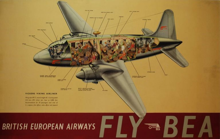 Fly BEA. Vickers Viking Airliner