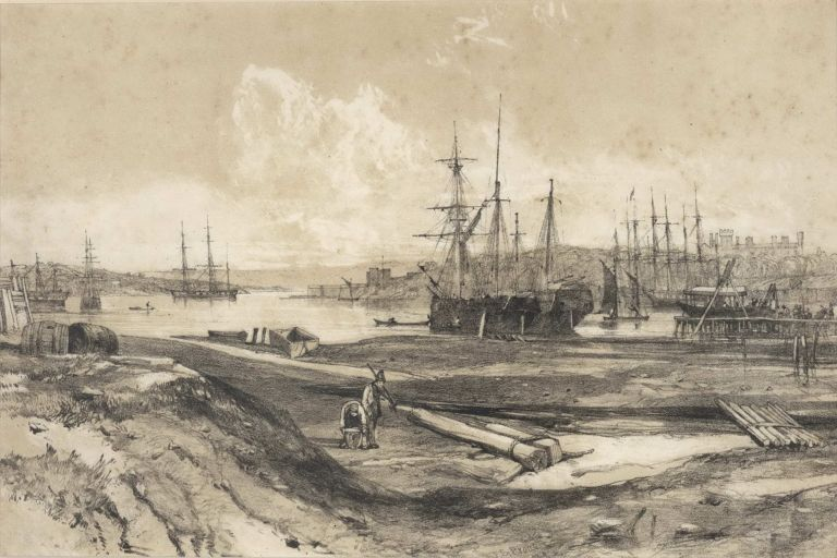 """Sydney Illustrated"" [Views Of Sydney Harbour]. John Skinner Prout, 1805–1876 Brit."