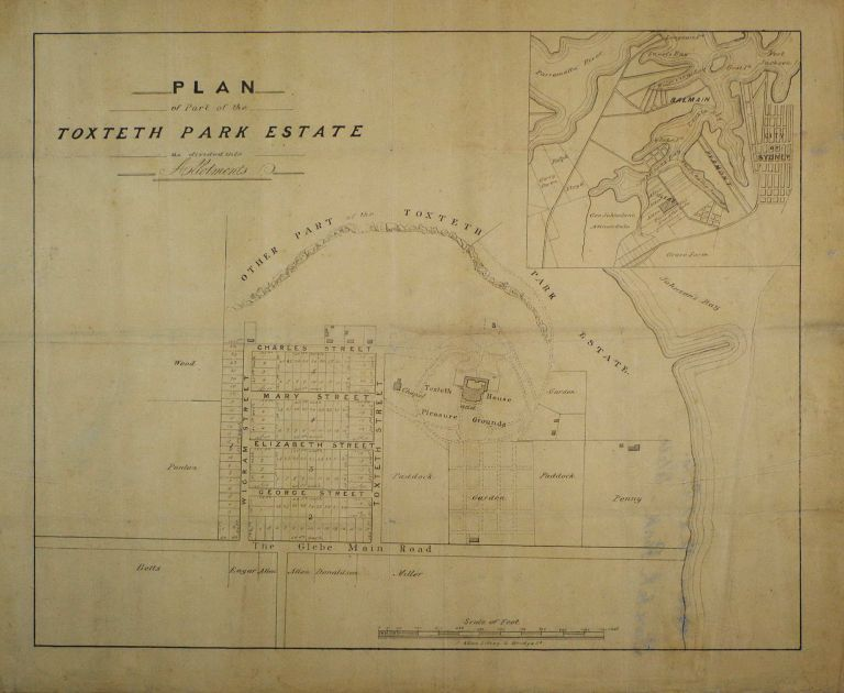 Plan Of Part Of The Toxteth Park Estate As Divided Into Allotments [Glebe]