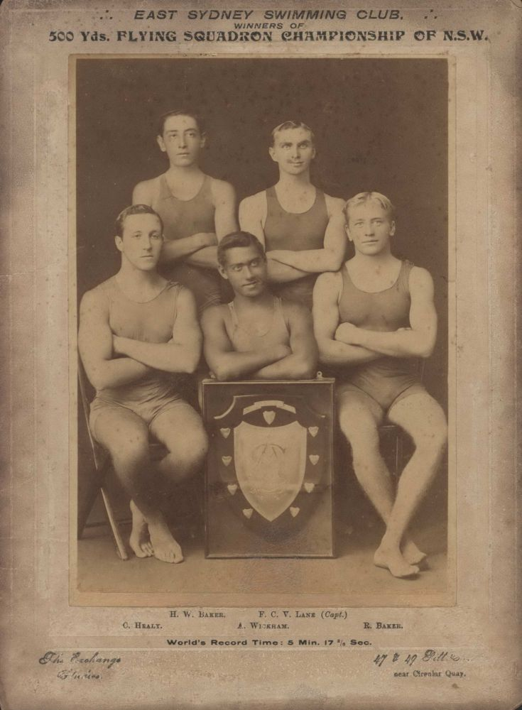 East Sydney Swimming Club. Winners Of 500 Yards. Flying Squadron Championship Of NSW