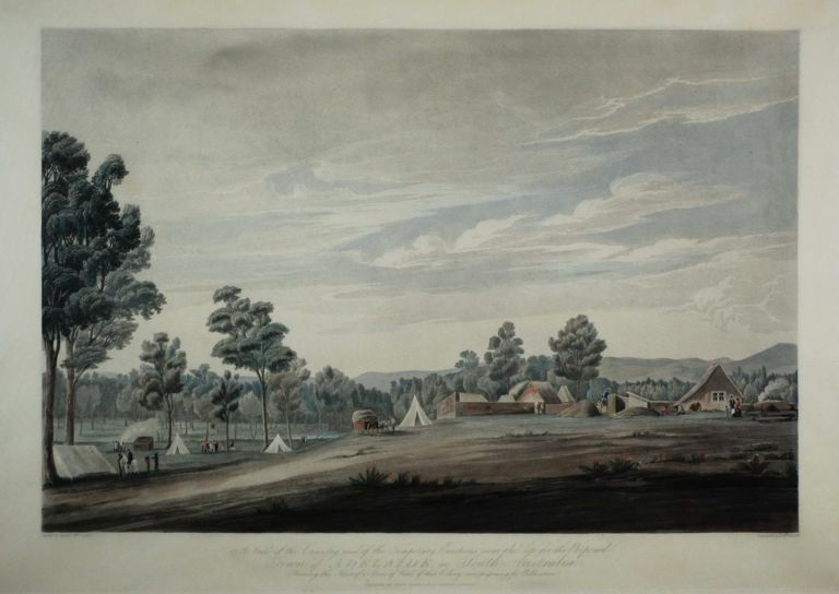 View Of The Country And Of The Temporary Erections Near The Site For The Proposed Town Of Adelaide In South Australia. After Colonel William Light, 1786–1839 Brit.