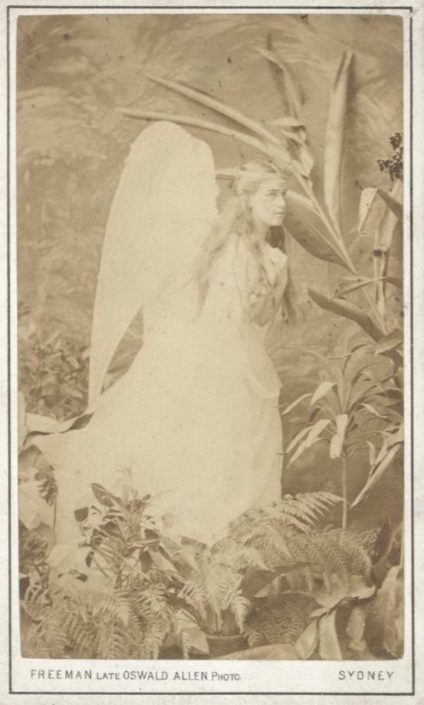 [Young Woman Dressed As An Angel]. William Freeman, 1809–1895 Brit./Aust.