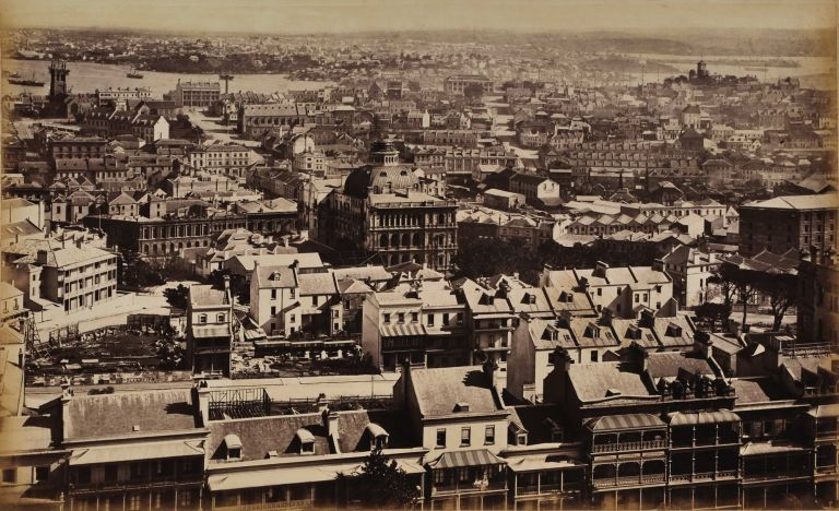 Panel From Bayliss' Sydney Panorama Taken From The Dome Of The International Exhibition Building. Charles Bayliss, 1850–1897 Aust.