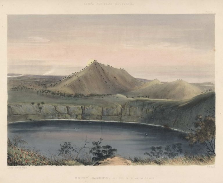 Mount Gambier, And One Of Its Volcanic Lakes (After Sunset) [SA]. After George French Angas, 1822–1886 Brit./Aust.