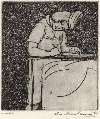 Nurse Writing]. Ian Armstrong, Aust
