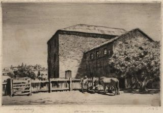 Old Mill, Carcoar. Lionel Lindsay, Aust