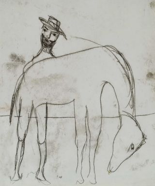 "Study For ""Kelly Series""]. Sidney Nolan, Aust"