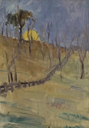 Moonrise With Fence]. Jessie Traill, Australian
