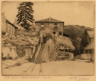 Old House, Rocks District [NSW]. Edward Warner, Aust.