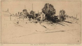 Old Houses, Paddington, NSW. Ralph M. Warner, Australian