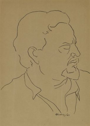 [Portrait Of Ezra Pound]. Horace Brodzky, Aust.