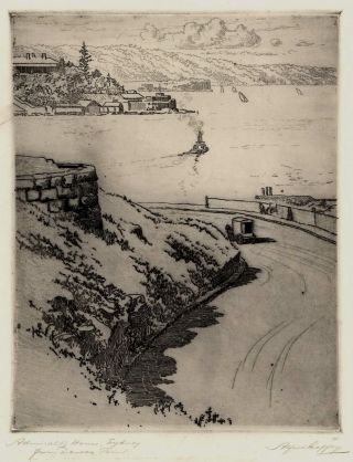 Admiralty House, Sydney, From Dawes Point. Alfred Coffey, Aust